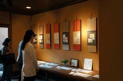 絵手紙展(京都祇園にて)